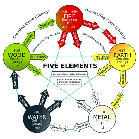 The Five Elements of Five element acupuncture